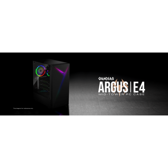 GAMDIAS ARGUS E4 MID TOWER ARGB GAMING CABINET
