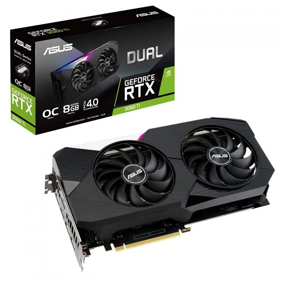 ASUS GEFORCE RTX 3060 TI DUAL OC 8 GB DDR6 GRAPHIC CARD