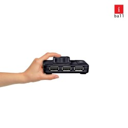 USB HUB 4 PORT IBALL PIANO 423
