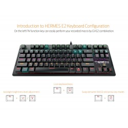 GAMDIAS 7 Color Backlit Gaming Mechanical Keyboard