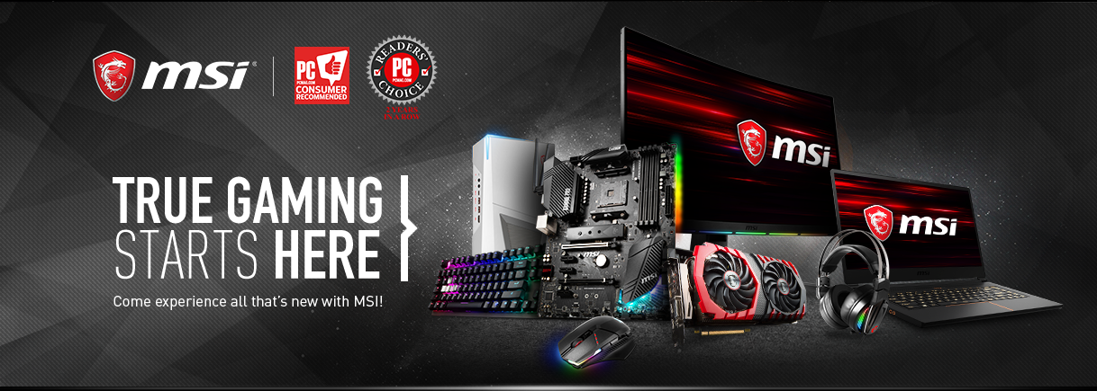 """""""All Gaming accessories from MSI. MSI Laptops, Gaming Mouse & Keyboards, Motherboards, Monitors, and all Gaming Peripherals"""""""